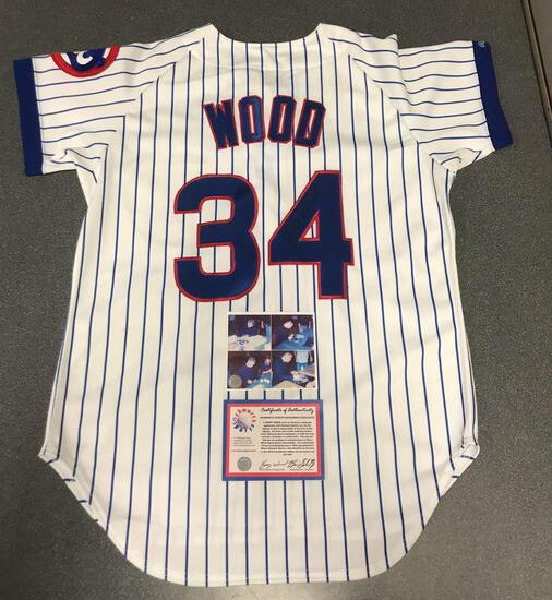 Kerry Wood autographed Cubs Diamond Collection jersey with certificate of authenticity