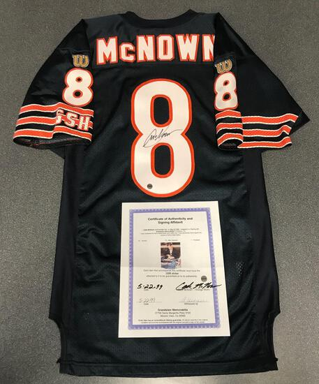 Cade McNown autographed Bears Game Model Jersey with COA