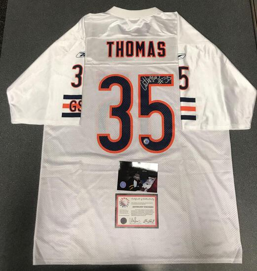 Anthony Thomas autographed Bears jersey with COA