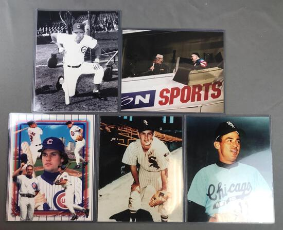 Group of 5 Chicago Baseball Legends photos