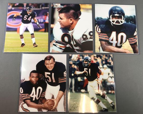 Group of five photos legends of the Chicago Bears