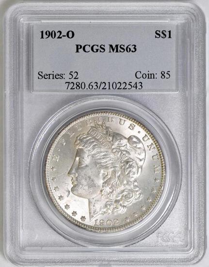 1902 O Morgan Silver Dollar (PCGS) MS63.