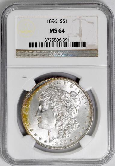 1896 P Morgan Silver Dollar (NGC) MS64.