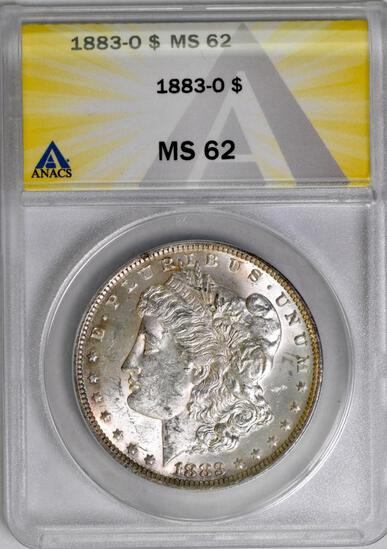 1883 O Morgan Silver Dollar (ANACS) MS62.