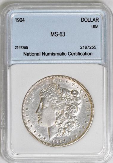1904 P Morgan Silver Dollar (NNC) MS63.