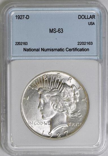 1927 D Peace Silver Dollar (NNC) MS63