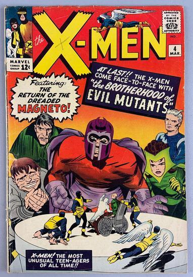 Marvel Comics X-Men No. 4 Comic Book