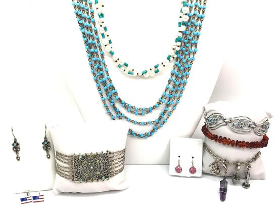 Costume Bracelet, Necklace and Earring Collection