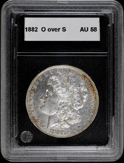 1882 O/S Morgan Silver Dollar.