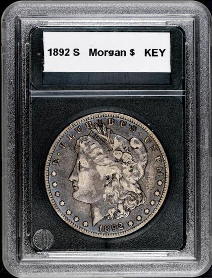 1892 S Morgan Silver Dollar.