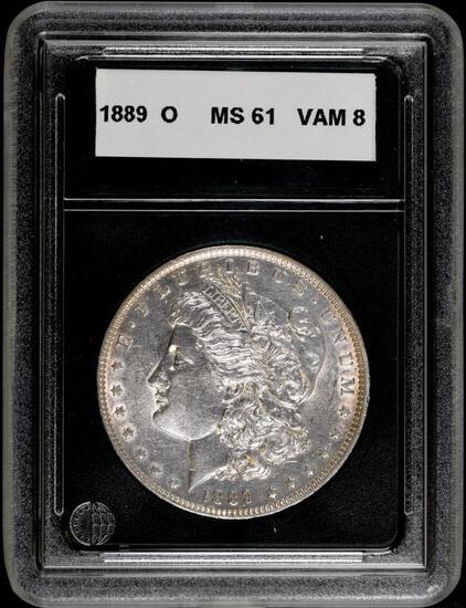 1889 O Morgan Silver Dollar.