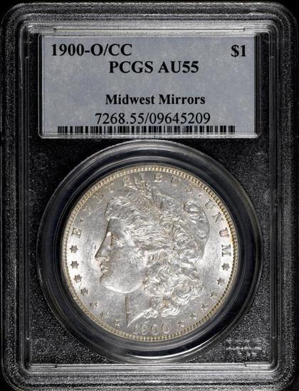 1900 O/CC Morgan Silver Dollar (PCGS) AU55