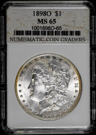 1898 O Morgan Silver Dollar.