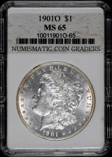 1901 O Morgan Silver Dollar.
