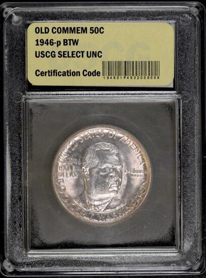 1946 P Booker T. Washington Commemorative Silver Half Dollar (USCG) Uncirculated.