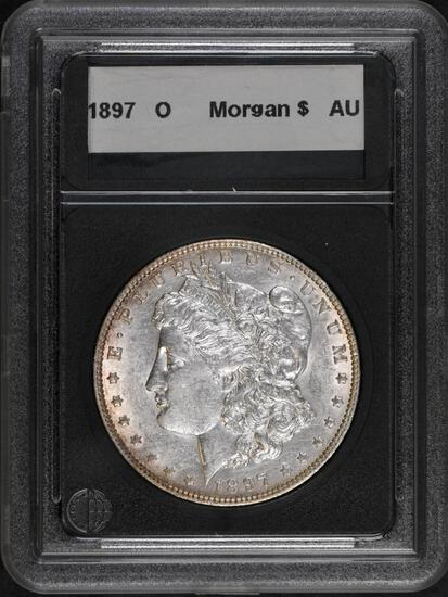 1897 O Morgan Silver Dollar.