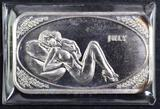 Crown Mint Beauties Adult Art Bar 1oz. .999 Fine Silver Ingot / Bar.