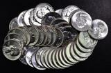 Group of (40) 1964 P Washington Silver Quarters.