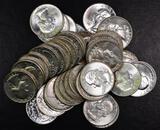 Group of (40) Washington Silver Quarters.