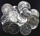 Group of (20) 1963 D Franklin Silver Half Dollars.