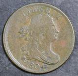 1804 Draped Bust Half Cent.