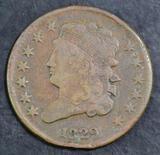 1829 Classic Head Half Cent.
