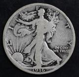 1916 P Walking Liberty Silver Half Dollar.