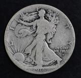 1916 D Walking Liberty Silver Half Dollar.