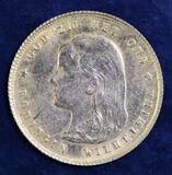 1897 Netherlands 10 Gold Gulden.