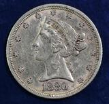 1880 $5 Liberty Gold.