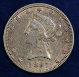 1897 $10 Liberty Gold.