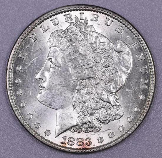 1883 P Morgan Silver Dollar.