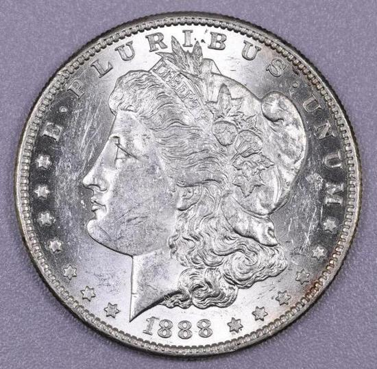 1888 S Morgan Silver Dollar.