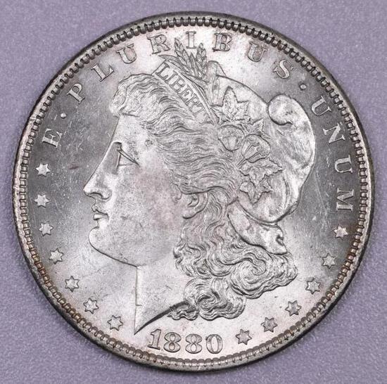 1880 P Morgan Silver Dollar.