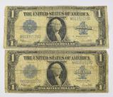 Group of (2) 1923 $1 Silver Certificate Note.