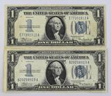 Group of (2) 1934 $1 Silver Certificate