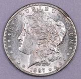 1887 S Morgan Silver Dollar.