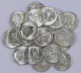 Group of (20) 1964 P Kennedy Silver Half Dollar.