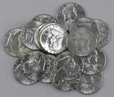 Group of (20) 1963 P Franklin Silver Half Dollars.