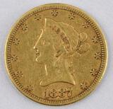 1887 S $10 Liberty Gold.