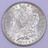 1883 O Morgan Silver Dollar.