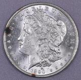 1890 O Morgan Silver Dollar.