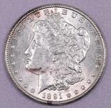 1891 S Morgan Silver Dollar.