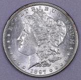 1897 P Morgan Silver Dollar.
