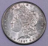 1897 S Morgan Silver Dollar.