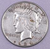1934 S Peace Silver Dollar.