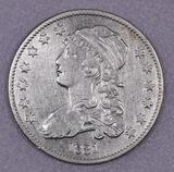 1831 Capped Bust Silver Quarter.