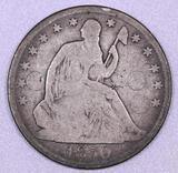 1850 O Seated Liberty Silver Half Dollar.
