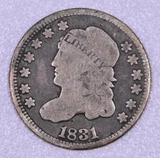 1831 capped Bust Silver Half Dime.