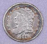 1834 Capped Bust Silver Half Dime.